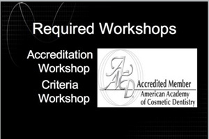 American Academy of Cosmetic Dentistry Accreditation Workshop Dental CE Video Course by Dr. Bradley Olson, DDS